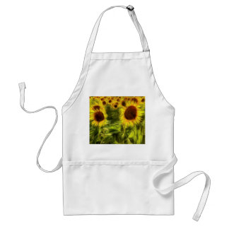 Sunflowers Abstract Van Gogh Adult Apron