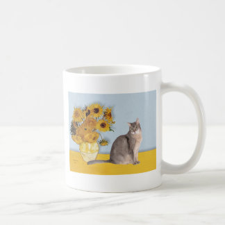 Sunflowers - Abyssinian (blue 21) Coffee Mug