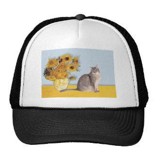 Sunflowers - Abyssinian (blue 21) Mesh Hats