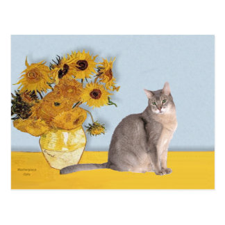 Sunflowers - Abyssinian (blue 21) Postcard