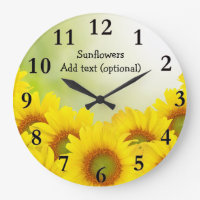 Sunflowers Acrylic Wall Clock