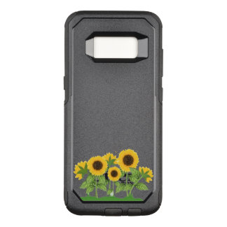 Sunflowers and a Bee OtterBox Commuter Samsung Galaxy S8 Case