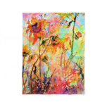 Sunflowers and Bees Provence Colorful Watercolor Fleece Blanket