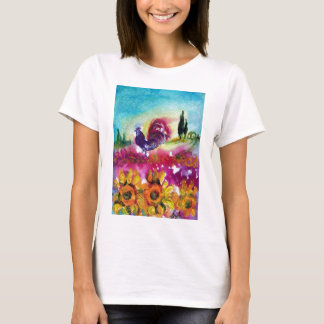SUNFLOWERS AND BLACK ROOSTER T-Shirt