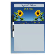 Sunflowers and Blue Sky Wedding Planner Board Dry-Erase Whiteboards at Zazzle