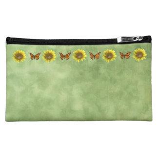 Sunflowers and Butterflies Makeup Bag