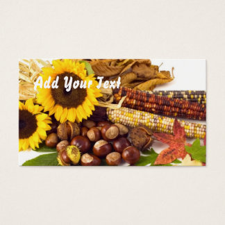 Sunflowers and corn business card