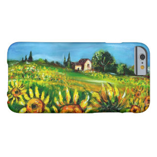 SUNFLOWERS AND COUNTRYSIDE IN TUSCANY BARELY THERE iPhone 6 CASE