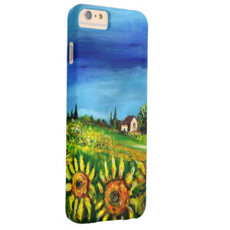 SUNFLOWERS AND COUNTRYSIDE IN TUSCANY BARELY THERE iPhone 6 PLUS CASE