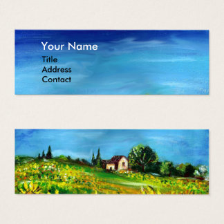 SUNFLOWERS AND COUNTRYSIDE IN TUSCANY / Blue Sky Mini Business Card