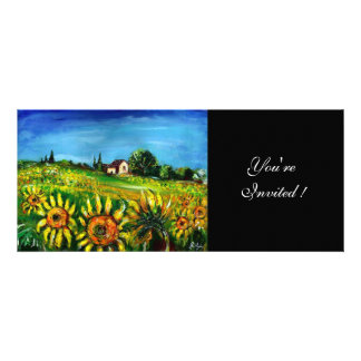SUNFLOWERS AND COUNTRYSIDE IN TUSCANY CUSTOM INVITE