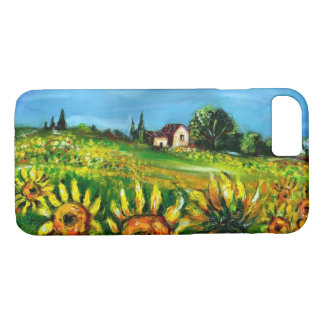 SUNFLOWERS AND COUNTRYSIDE IN TUSCANY iPhone 7 CASE