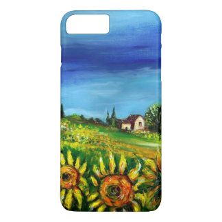 SUNFLOWERS AND COUNTRYSIDE IN TUSCANY iPhone 7 PLUS CASE