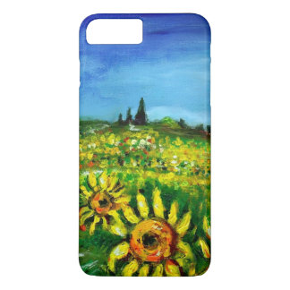SUNFLOWERS AND COUNTRYSIDE IN TUSCANY iPhone 8 PLUS/7 PLUS CASE