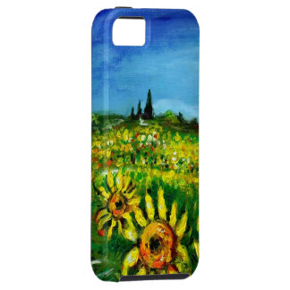 SUNFLOWERS AND COUNTRYSIDE IN TUSCANY iPhone SE/5/5s CASE