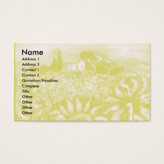 SUNFLOWERS AND COUNTRYSIDE IN TUSCANY- ITALY BUSINESS CARD