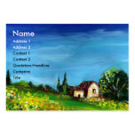 SUNFLOWERS AND COUNTRYSIDE IN TUSCANY- ITALY BUSINESS CARD TEMPLATE
