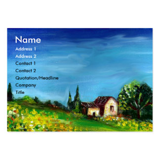 SUNFLOWERS AND COUNTRYSIDE IN TUSCANY- ITALY LARGE BUSINESS CARD