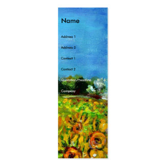 SUNFLOWERS AND COUNTRYSIDE IN TUSCANY- ITALY MINI BUSINESS CARD