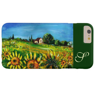 SUNFLOWERS AND COUNTRYSIDE IN TUSCANY MONOGRAM BARELY THERE iPhone 6 PLUS CASE