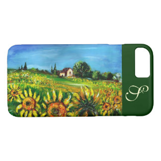 SUNFLOWERS AND COUNTRYSIDE IN TUSCANY MONOGRAM iPhone 8/7 CASE