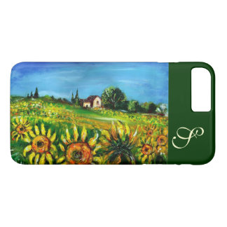 SUNFLOWERS AND COUNTRYSIDE IN TUSCANY MONOGRAM iPhone 8 PLUS/7 PLUS CASE