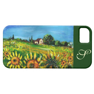 SUNFLOWERS AND COUNTRYSIDE IN TUSCANY MONOGRAM iPhone SE/5/5s CASE