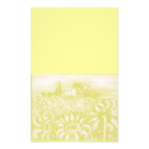 SUNFLOWERS AND COUNTRYSIDE IN TUSCANY STATIONERY