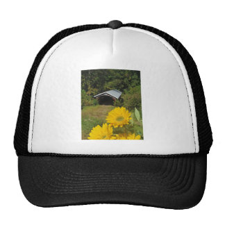 Sunflowers and Cover bridge Trucker Hat