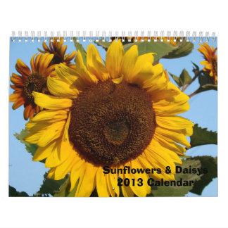 Sunflowers and Daisys 2013 Wall Calendar