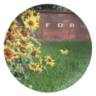 Sunflowers and Ford - ain't that cool! Party Plate