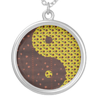 Sunflowers and Leaves Yin Yang Jewelry