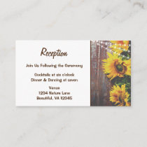 Sunflowers and Lights Rustic Country Wedding Enclosure Card