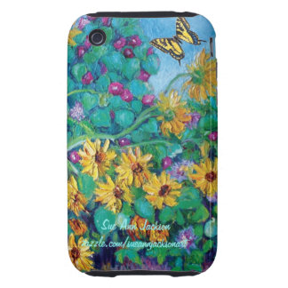 Sunflowers and Morning Glories iPhone 3 Tough Cover