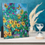 Sunflowers and Morning Glories Display Plaque