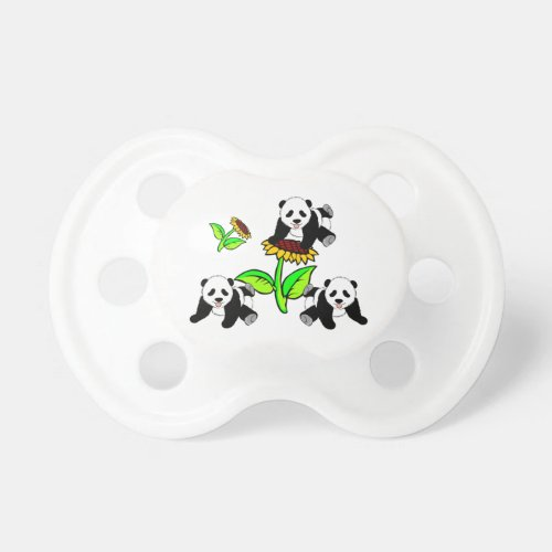 Sunflowers and Panda Bear Pacifier