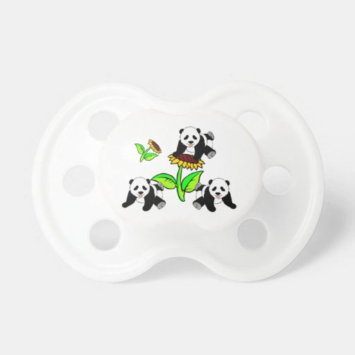 Sunflowers and Panda Bear Baby Pacifier