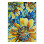 Sunflowers and Polk a Dots Greeting Card