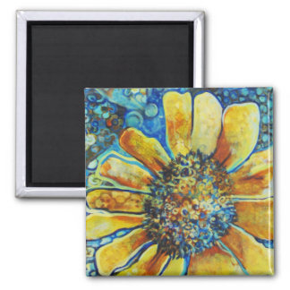 Sunflowers and Polk a Dots Magnet