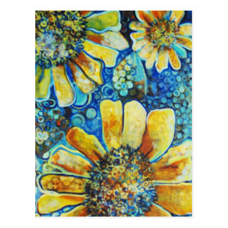 Sunflowers and Polk a Dots Postcard