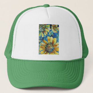 Sunflowers and Polk a Dots Trucker Hat