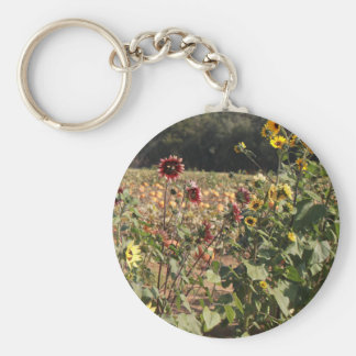 Sunflowers and Pumpkins Keychain