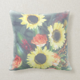 Sunflowers and Roses American MoJo Pillow