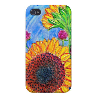 Sunflowers and Roses Case For iPhone 4