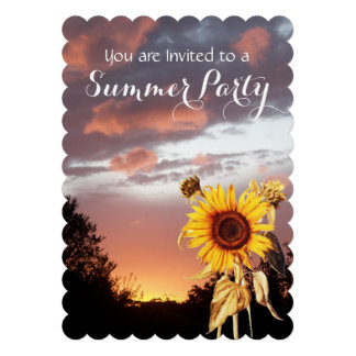 SUNFLOWERS AND SUMMER SUNSET PARTY ANNOUNCEMENT