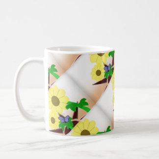 Sunflowers and sun western coffee mug