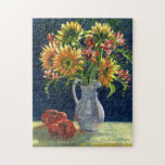 "&quot;Sunflowers and Tomatoes&quot; Jigsaw Puzzle<br><div class=""desc"">A trip to the grocery store brought home some wonderful subjects one spring day!</div>"