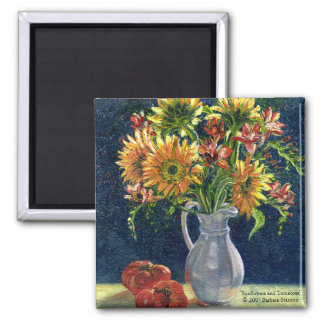 """""""Sunflowers and Tomatoes"""" Magnet"""