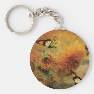 Sunflowers Art Keychain
