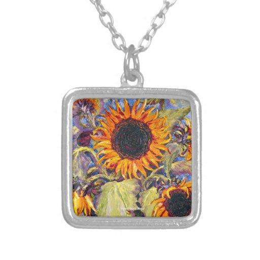Sunflowers Art Necklace